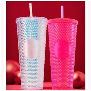 NEW Set of 2 Holiday Tumblers Cold Cups 24oz NEW